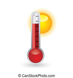 thermometer with sun