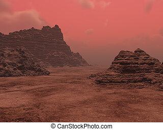 aterragem, Marte