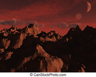 mars Views - mountains of mars