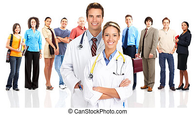 doctors and people - Smiling medical doctors and people....