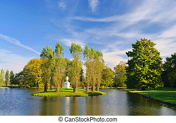 English Grounds of Woerlitz Rousseau island 04