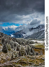 Heavy rain clouds - The magnificent landscape of the...