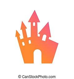 Gebouw, kleurrijke, helling,  Halloween,  element, Ontwerp, kasteel, pictogram