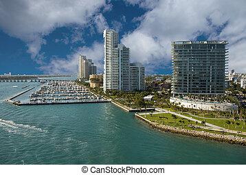 Miami Beach Coastline, Florida - Miami Beach Coast in...