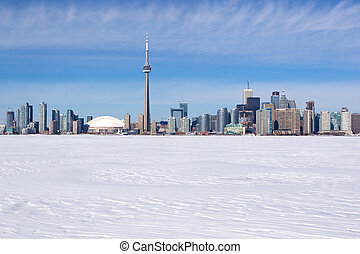 Toronto - Winter skyline of Toronto, Canada