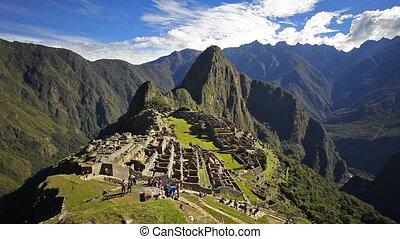Machu Picchu time lapse - Machu Picchu timelapse. Machu...