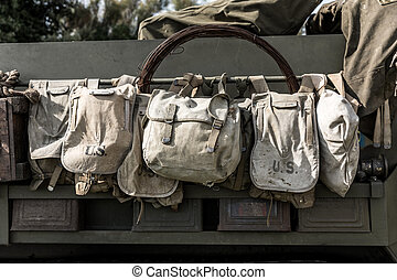 Old US military bags
