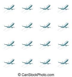 aviation seamless pattern