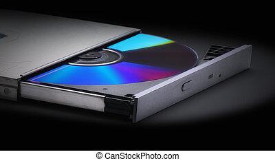 lançando, compacto, disco