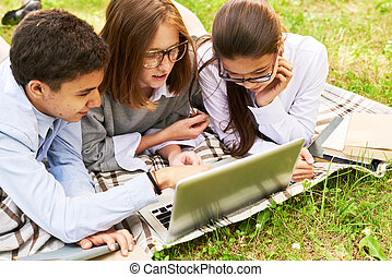 Doing Homework with Friends