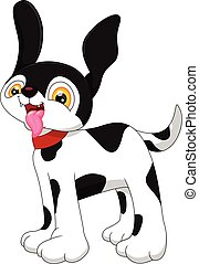 Dalmation cartoon - vector illustration of Dalmation cartoon