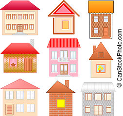 houses sketches set