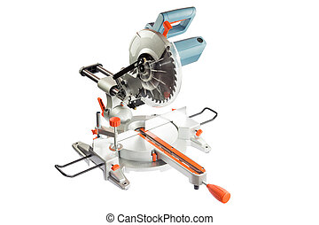 Circular saw isolated on a white background. - Circular saw...