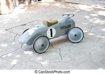 Tin toy car with pedals Children