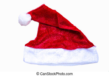 Red hat - red hat of Santa Claus on white background
