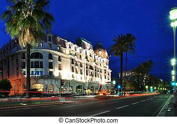 Luxury hotel on Promenade des Anglais, Nice - Luxury hotel...