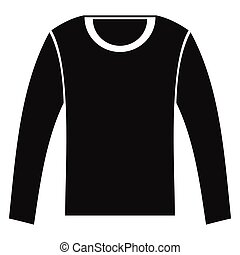 Man shirt with long sleeves in black simple silhouette style icons vector illustration