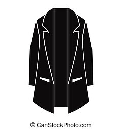 Man overcoat in black simple silhouette style icons vector illustration for design and web