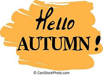 hello autumn - vector hello autumn