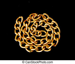 golden chain isolated