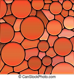 abstract vector stained-glass mosaic background - red...