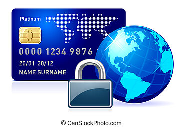 secure online payment - Abstract illustration representing...