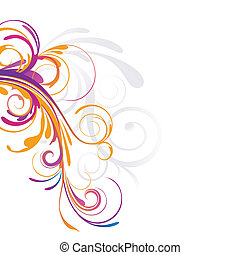 floral background - vector illustration of colorful floral...