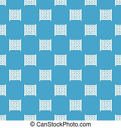 Cubes with numbers on playground pattern seamless blue