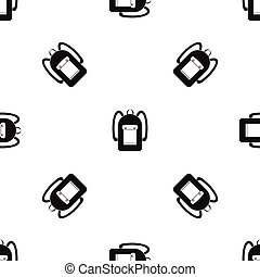 Backpack pattern seamless black - Backpack pattern repeat...