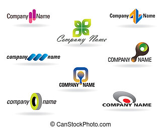 Logo Collection - Collection with various clean business...