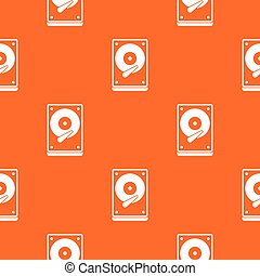 HDD pattern seamless - HDD pattern repeat seamless in orange...