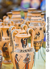 Ceramics souvenir shop - shopping background