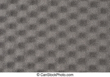 Grey foamed rubber, close up as background