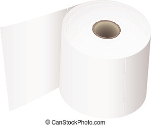 Toilet roll white - white toilet roll with perforations and...