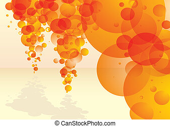 bubble tastic citrus stream - orange bubble concept...
