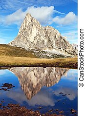 passo Giau, mount Ra Gusela from Nuvolau gruppe - View from...
