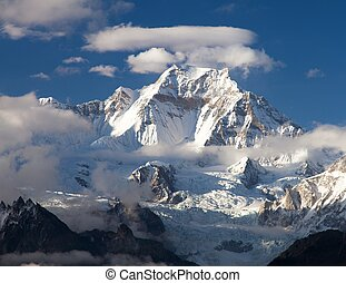 View from Gokyo Ri to mount Gyachung Kang 7952m within...