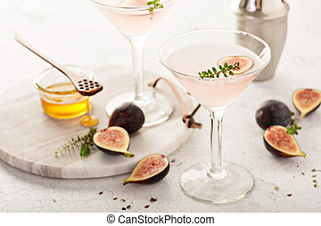 Pink fig and honey martini - Pink fig, thyme and honey...