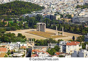 Templo, olympian, zeus, Atenas, Grécia