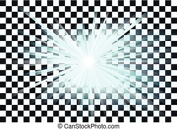Blue light rays vector - Vector illustration of a blue light...