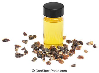 Frankincense dhoop with essential oil, a natural aromatic...