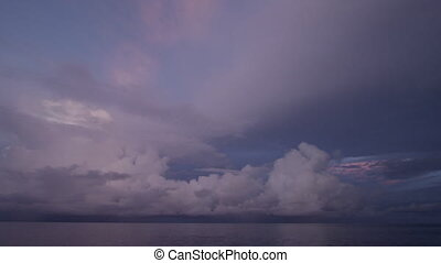 Cloud and ocean shot - A wide shot of the cloud's and ocean....