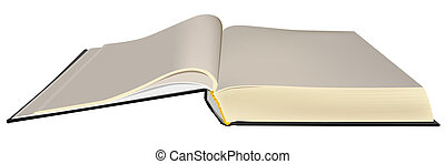 Open book. Illustration in vector format EPS.