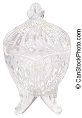 Decorative glass jar use as salt container