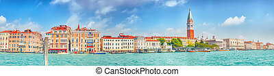 Views of the most beautiful canal of Venice - Grand Canal,...