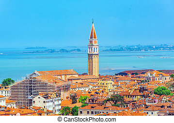 Bell tower of the Oratorio San Marco in Vinea and San...