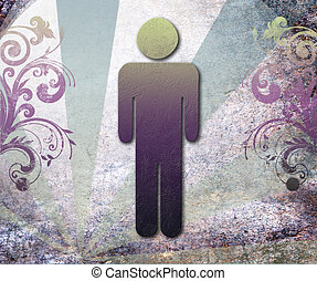 Sign of public toilets WC  for men,background vector