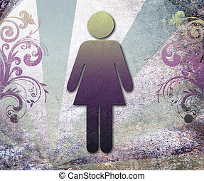 Sign of public toilets WC for women,background vector