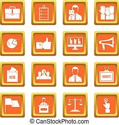 橙, 投票, 集合, 選舉, 圖象