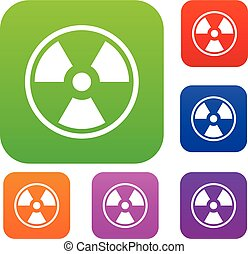 Danger nuclear set collection - Danger nuclear in simple...
